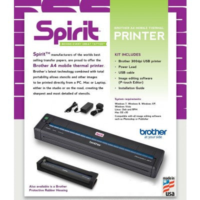 Brother A4 Mobile Thermal Printer (PJ-723) - magnumtattoosupplies