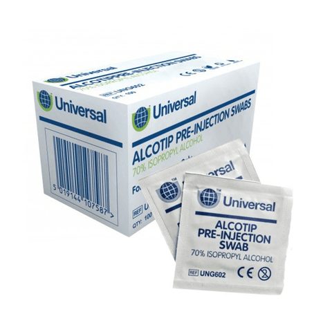 Universal Alcotip Pre-Injection Swabs (100) - magnumtattoosupplies