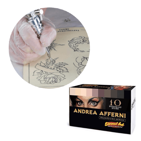 Tattoo Practice Ink - Eternal Ink Andrea Afferni Signature Set 1oz