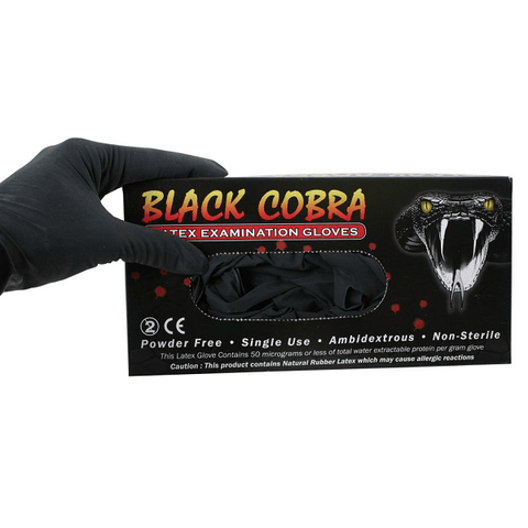 Black Cobra - Latex Gloves - magnumtattoosupplies
