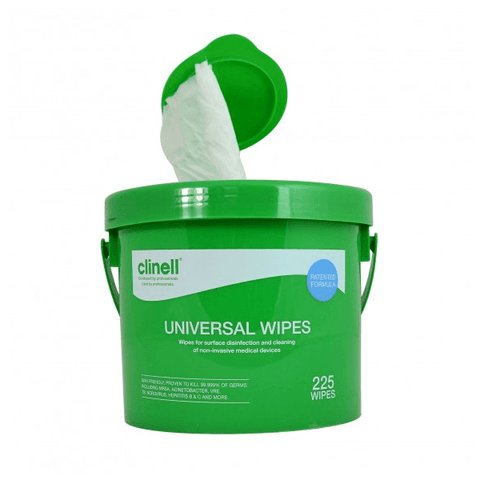 Clinell - Universal Sanitising Wipes Bucket (225) - magnumtattoosupplies