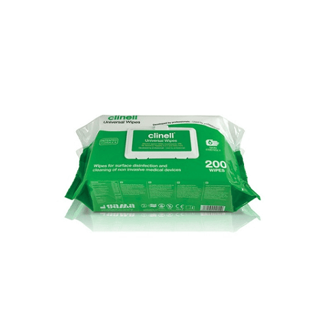 Clinell Universal Sanitising Wipes Flowpack (200) - magnumtattoosupplies