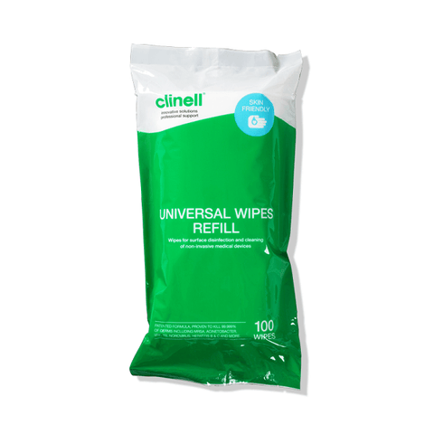 Clinell Universal Sanitising Wipes Canister  - Refill Pack (100) - magnumtattoosupplies
