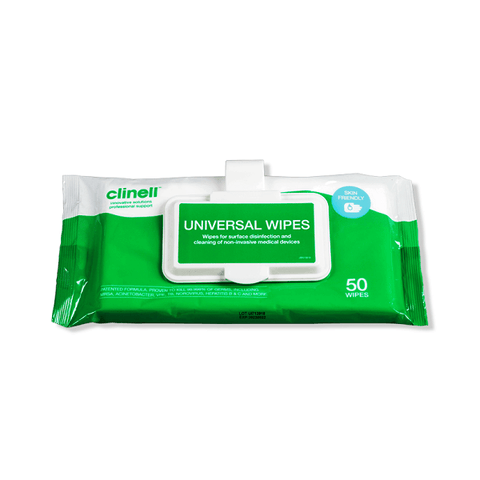 Clinell Universal Sanitising Wipes Clip pack (50) - magnumtattoosupplies