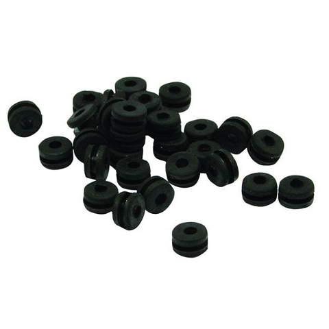 Black Grommets (Doughnut Style 2) (100) - magnumtattoosupplies