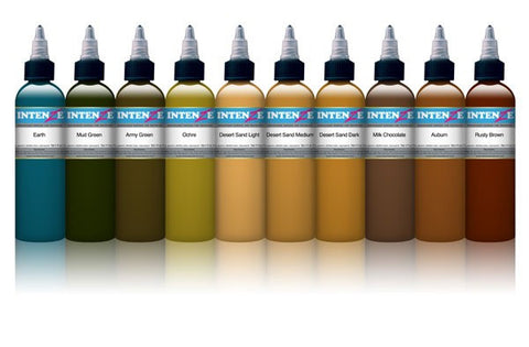 Earth Tones Set By Intenze - magnumtattoosupplies