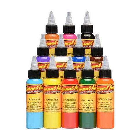 Eternal Ink Primary Colour Sample Set - magnumtattoosupplies