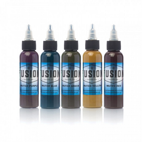 Fusion Ink - Muted Colour Set - magnumtattoosupplies