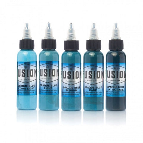 Fusion Ink - Opaque Blue Set - magnumtattoosupplies