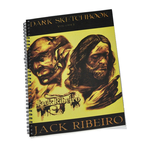 Jack Ribeiro Dark Sketch Book Vol 3 - magnumtattoosupplies