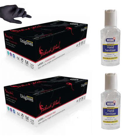 Hygiene Bundle - (2 x Boxes of Gloves, 2 x Hand Sanitiser 30ml) - magnumtattoosupplies