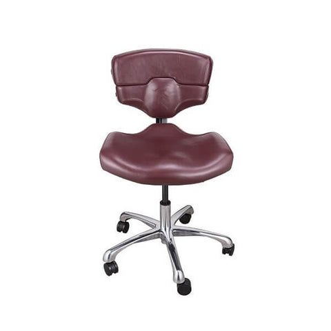 TATSoul Mako Studio Chair - Ox Blood - magnumtattoosupplies