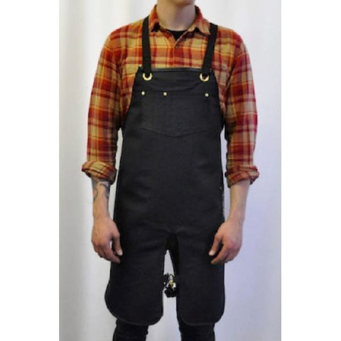 Reversible Vinyl/Denim Split Leg Apron