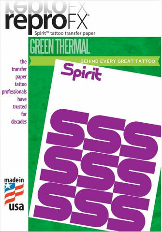 "Spirit Green Thermal Paper 11"" (100) - magnumtattoosupplies"