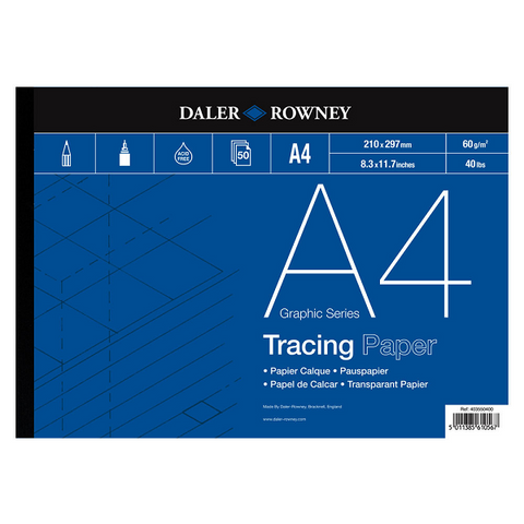 A4 Tracing Paper Pad (63gsm) (50)