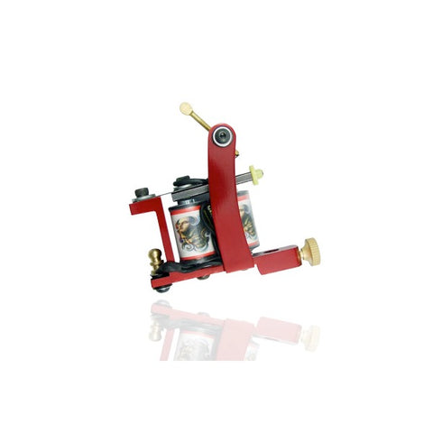 Unbranded Tattoo Machine - Red - magnumtattoosupplies