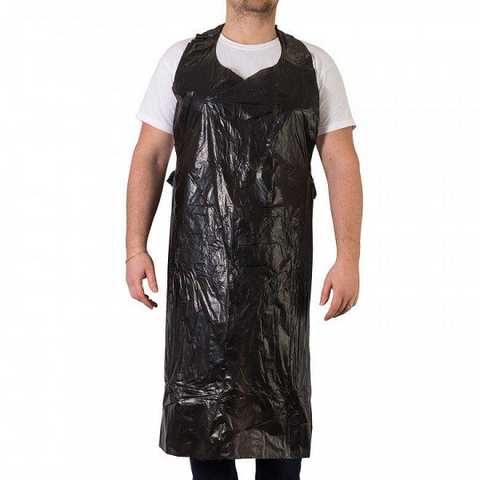 Unigloves Disposable Black PE Aprons - magnumtattoosupplies