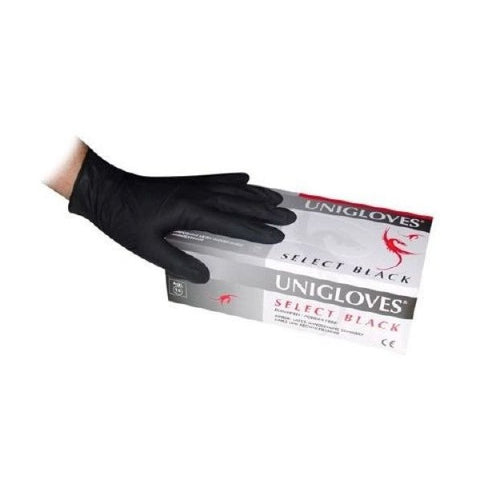 Uniglove Select Black Gloves Latex - magnumtattoosupplies
