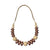 Statement Jewellery -  Necklace - Rose Gold & Natural