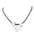 Statement Jewellery- Necklace - Matte Silver