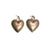 Statement Jewellery - Earrings-Silver/Rose Gold