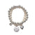 Statement Jewellery -Bracelet-Silver - Pearls