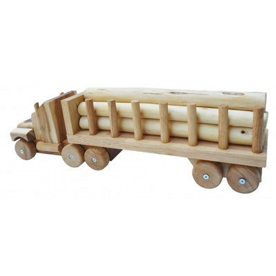 Q Toy Wooden Log Truck, Kids Wooden Toy, Q Toys - The Raindrops and Lollipops Shop