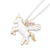 Chain Necklace With Gold Flying Unicorn By Lauren Hinkley
