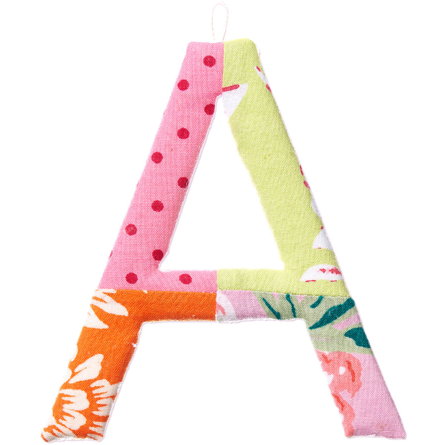TOSHI | Fabric Covered Letters A-Z - Rose