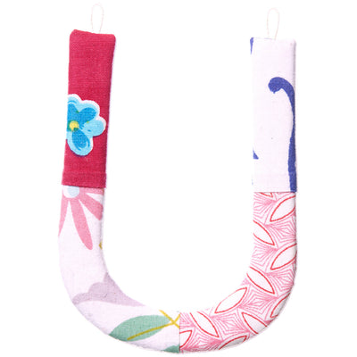 TOSHI | Fabric Covered Letters A-Z - Rose, Toshi Alphabet, Toshi - Raindrops and Lollipops