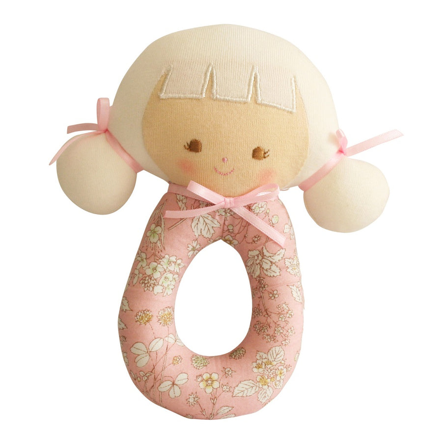 Alimrose Designs Audrey Grab Rattle Pink Blossom
