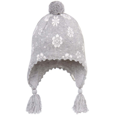 Toshi Earmuff Beanie Floral Ash, Beanie, Toshi - The Raindrops and Lollipops Shop