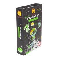 Tiger Tribe Activity Set Neon Colouring Set-Outer Space - by Tiger Tribe