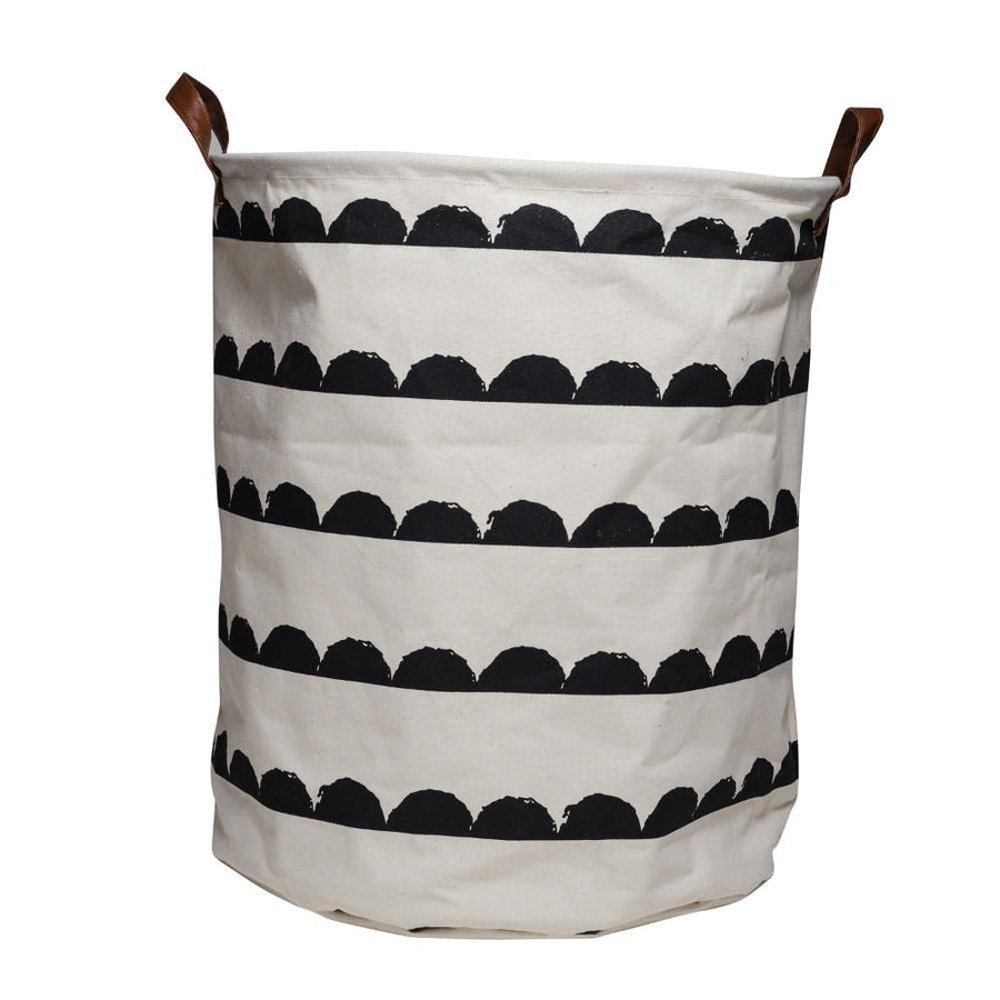 Executive Concepts Baskets Canvas Storage Basket Black and White Wave by Executive Concepts
