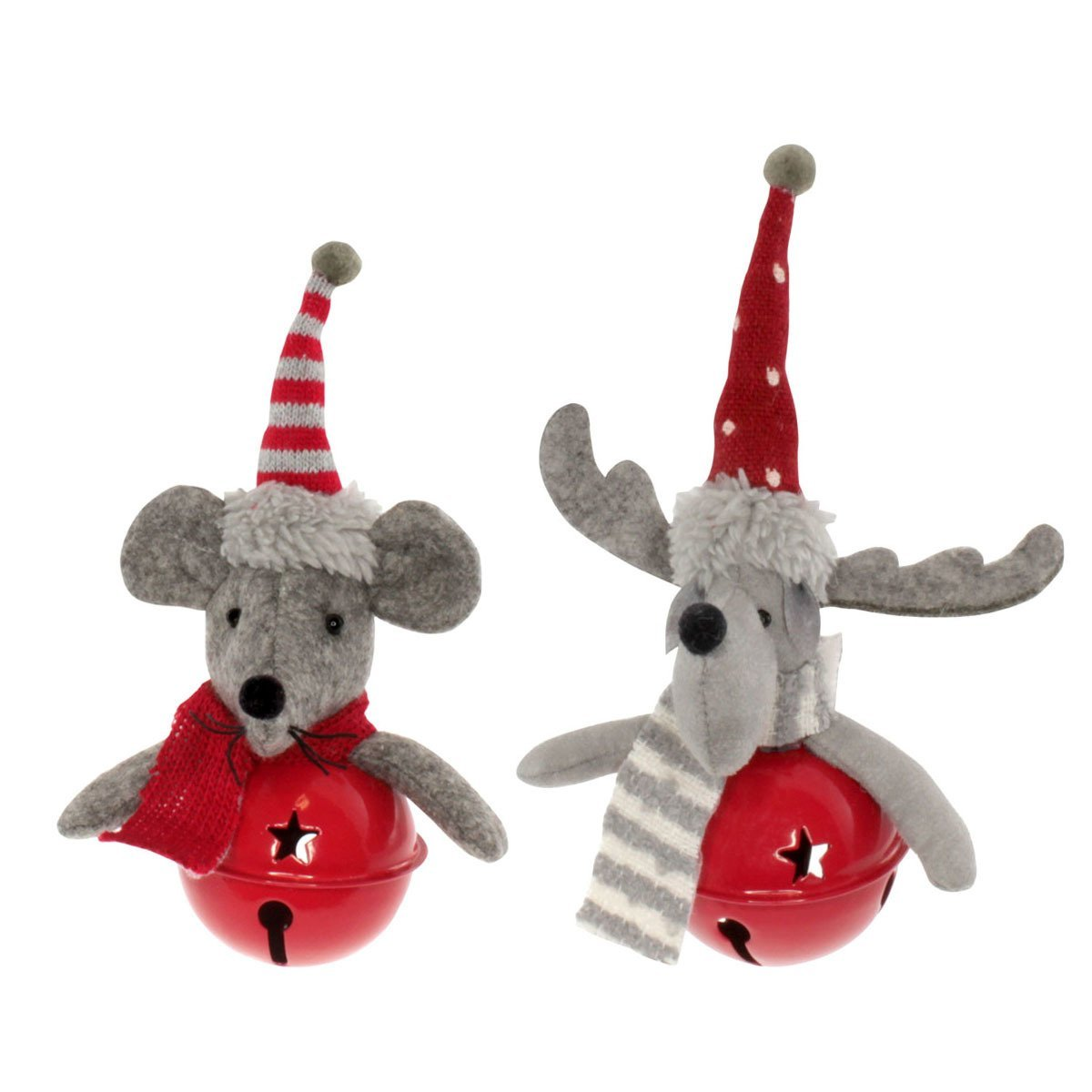 delightdecor christmas decorations delight decor moose mice bell - Christmas Mice Decorations