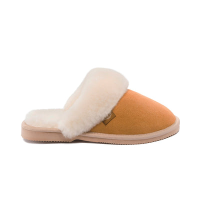 Ladies Sheepskin Scuffs in Chestnut - UGG Australia, Ladies Slippers, UGG Australia - The Raindrops and Lollipops Shop