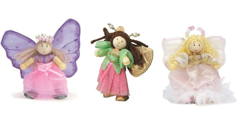 Le Toy Van Fairies & Pirates Fairy Triple Pack Painted Wooden Budkins by Le Toy Van.