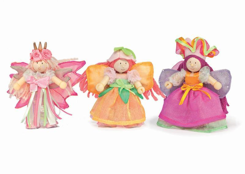 Le Toy Van Fairies & Pirates Garden Fairies Triple Pack Painted Wooden Budkins by Le Toy Van.