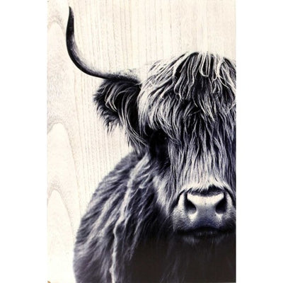 Bovine Wood Panel Artwork - 40 x 60, Paintings and Posters, Rayell - The Raindrops and Lollipops Shop