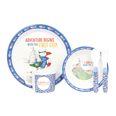 Kate Knapp Kids Dining Twigseeds-Kids-5 Pce Dinner Set- Adventure begins