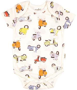 Toshi Onesies 000 Toshi Baby Onesie Short Sleeve Print Scooter - 100% Cotton