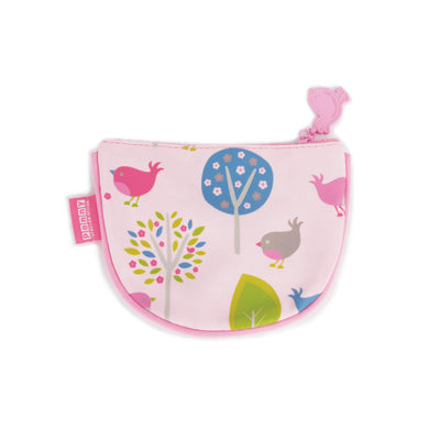 Coin Purse - Chirpy Bird By Penny Scallan, Kids Coin Purse, Penny Scallan Design - The Raindrops and Lollipops Shop