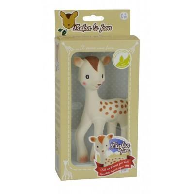 Les Folies Teething Fanfan the Fawn 100% natural rubber Teething Toy by Vulli France