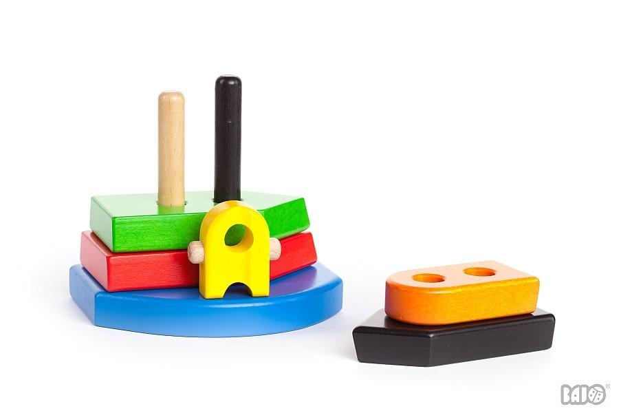 Bajo Wooden Nemo Puzzle Stacker Wooden Toy by Bajo