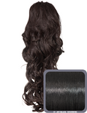 Glamour Long Ringlet Curls Synthetic Ponytail in #1 - Jet Black - Dolled Up Hair Extensions - 1