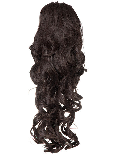Glamour Long Ringlet Curls Synthetic Ponytail in #4 - Dark Brown