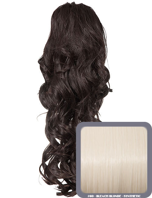 Glamour Long Ringlet Curls Synthetic Ponytail in #60 - Bleach Blonde