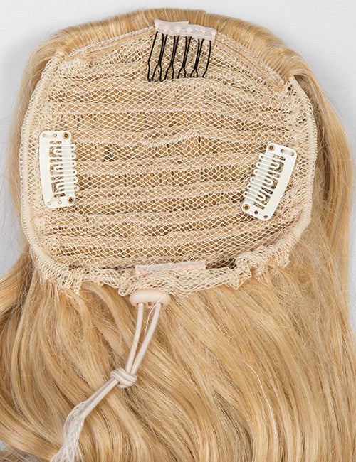 Glamour Long Ringlet Curls Synthetic Ponytail in #613/18 - Champagne Blonde