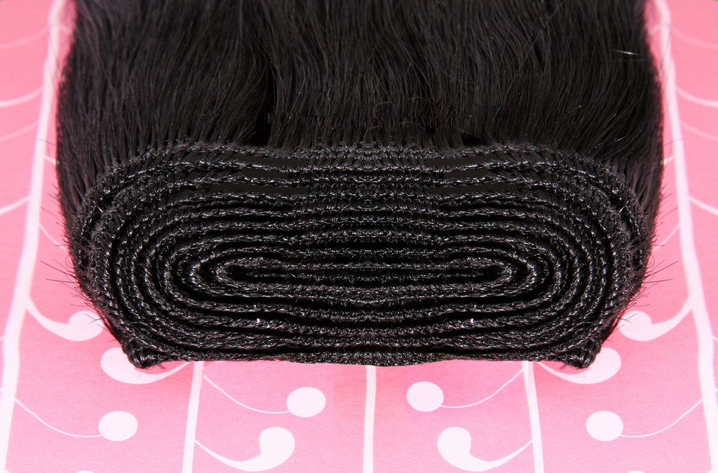 "22"" Deluxe Remi Weave Hair Extensions 140g in Jet Black (#1)"