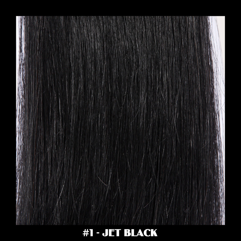"26"" Deluxe Remi Weave Hair Extensions 140g in #1 - Jet Black"